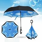 C-Handle Umbrella Folding Windproof Double Layer Upside Down Inverted Sun Rain