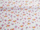 NEW! Pink GIRLS BUTTERFLY FLORAL Polycotton FABRIC Craft Dress Reduced Prices