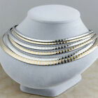 Women Stainless Steel Fashion Silver Gold Chunky Lady Collar Choker bib Necklace
