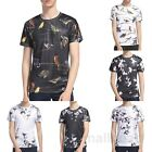 Mens 3d print Summer Short Sleeve Casual Slim Fit T-Shirts Graphic Tee Shirt Top