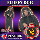 FANCY DRESS COSTUME # ADULT ALL IN ONE FLUFFY DOG COSTUME 38-44
