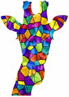 Colourful Vector Colourful 3D Giraffe Head POSTER by FunWorld 2017 Wall Art