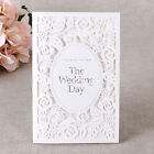 Elegant Laser Cut Rose Wedding Invitations All in one invitation RSVP CH1639