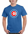 "Chicago Cubs ""Suck"" Funny Printed Black &Royal T-Shirt S-3XL"