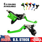"New 7/8"" Hydraulic Brake & Cable Clutch Levers Fit Kawasaki Dirt Bikes MX Enduro"