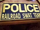 RAILROAD POLICE SWAT TEAM PANEL PATCH 13 INCH