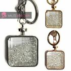​Ladies Gift Handbag Charm Glitter Filled Crystal Rose Gold Silver Diamonte