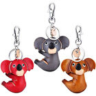 Genuine Leather Key Chains/Rings/Holder,Female Bag Pendant Keychain,Koala Design