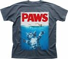 PAWS KITTEN JAWS poster parody Funny charcoal printed t-shirt TC9292