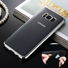 Clear Plating Soft TPU Case & Full Coverage Protector For Galaxy S7 edge/S8/Plus