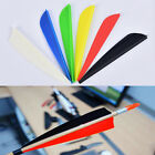 "100Pcs/lot 3"" Shield Plastic Feathers Hunting Vanes Archery Arrow Accessories JR"