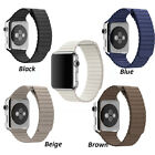 Replacement Genuine Leather Magnet Watchband iWatch Strap For Apple Watch