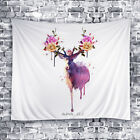New Deer Decor Wall Hanging Tapestry Boho Flower Blooms Home Decor