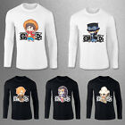 ONE-PIECE Printed Mens Anime Cartoon Cotton Fit Long Sleeve T-shirt Tops O-Neck