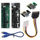 PCI-E Express 1x To 16x Extender Riser Card Adapter USB 3.0 Power Cable Mining