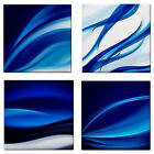 Abstract Blue Ocean Waves CeramicTile Feature Wall Tile Mosaics Table Coaster BN
