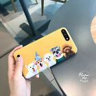 For iPhone 7 7 Plus 6 6SPlus Customize Cute Dog Bulldog Family Cute Polish Case
