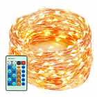 Outdoor LED Lights Flexible Dimmable Copper Wire Lights Waterproof with Remote