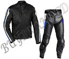 BMW Motorbike Leather Suit Racing BMW Motorcycle Cowhide Leather Jacket Trouser