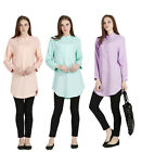 New Popular Women Tops Muslim  Abaya Dress Arab Islamic Shirt Blouse