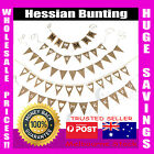 Hessian Banner Burlap Flags Rustic Bunting Wedding Party Decorations Natural