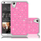 For HTC Desire 626 626S Tuff Hybrid ShockProof Protective Hard Case Cover Pink