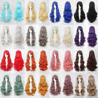 70cm Long Wavy Curly Fluffy Cosplay Anime party Wig heat resistant 22 Colors