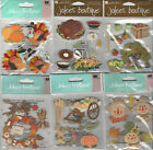 U CHOOSE  Assorted Jolee's FALL 3D Stickers autumn scarecrow leaves harvest pie