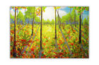Beautiful Forest With Tall Trees Abstract Art Poster Prints Gloss Wall Pictures