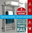 Electric Heated Towel 14 Rail Wall Mounted Bathroom Bars Warmer Stainless Steel