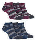 Storm Bloc - 3 Pairs Ladies Short Striped Padded Athletic Sporting Trainer Socks