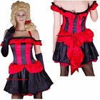 Wild West Westworld Saloon Girl Barmaid Can-Can Burlesque Costume 10 12 14 16 18