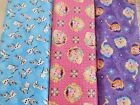"FUN NOVELTY children's movie Frozen themes 100% cotton fabric 1yd x 44""w"