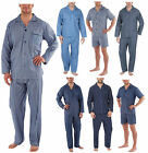 Mens Traditional Woven PJ Pyjama Set Night Wear PJ's Pyjamas Sets Gents Printed