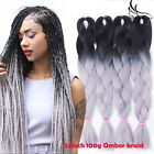 "24"" 100g Ombre Color Jumbo Braiding Hair Two Tone Color Synthetic Box Braids"