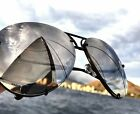 "5 MIRROR ""Posche"" OVERSIZED Women Sunglasses Aviator Flat Top Square Shadz"