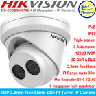 Hikvsion 8MP 2.8mm Fixed lens 30m IR Turret IP Network Camera DS-2CD2385FWD-I