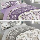 Complete Bedding Set Duvet Cover with Pillowcase Sheet Millie Vintage Love Heart