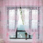 10 Colors Country Floral Tulle Window Curtain Voile Drape Sheer Scarf Valances