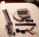Nintendo Wii White Console System Cables Sensor Bar Used Clean Works