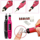 Set of Fast Nail Art Drill Kir Electric File Buffer Bit Acrylic Portable Machine