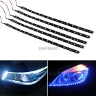 5 x 15 LED 30cm Car Motor Vehicle Flexible Waterproof Strip Light Blue/ HD23L01