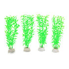 4pcs Plastic Aquarium Leaves Plants Fish Tank Water Plant Decor Landscape