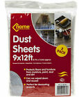 PACK OF 2 DUST SHEETS  - 9 X 12 FT EACH - COVER/PROTECTION - DECORATING/PAINTING