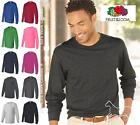 Fruit of the Loom Mens Blank Heavy Cotton Long  Sleeve T Shirt 4930R Up to 3XL image
