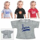 3 Color T-Shirt Summer Clothes Top Outfit For 18 inch American Girl Doll Gift