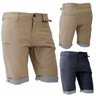 Mens Brave Soul Cargo Combat Casual Chino Pants Cotton Shorts Fitted Half Pant M