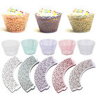 25pcs Filigree Cut Cupcake Cake Wrappers Wraps Case Wedding Birthday Party Decor