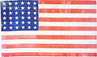 1864 Civil War 36 Star American Flag Old Worn Fabric Look Patriotic Wall Poster