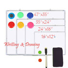 dry wipe whiteboard - Multi-Function Magnetic Whiteboard w/Marker Dry Wipe Erase Board Aluminum Office